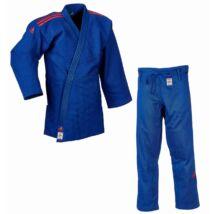 Adidas Champion II. IJF kék Judo gi, piros vállszövéssel.