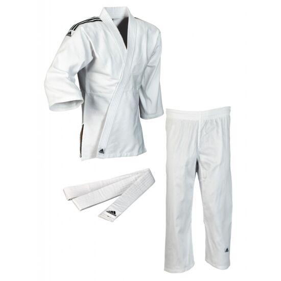 Adidas J350 Club Judo gi fekete/fehér vállcsík