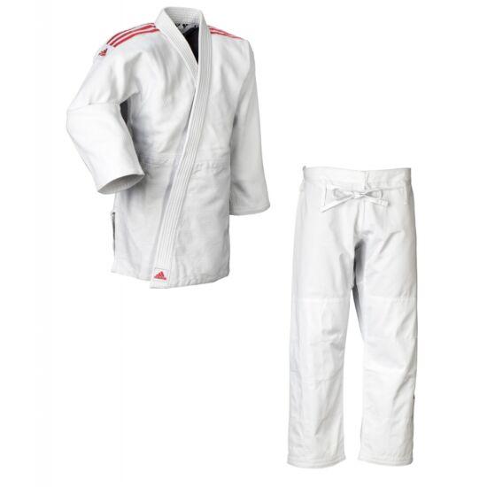 Adidas Quest fehér judo ruha piros vállcsík J690