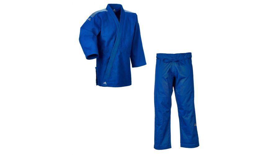 a9dcd3732 Adidas Contest J650 kék judo gi ezüst vállcsíkkal.